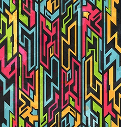 colored tribal graffiti seamless pattern vector image