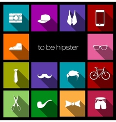 colorful icons hipster vector image