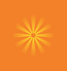 colorful poster with sun shining on orange vector image