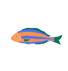 colorful sea fish cartoon vector image