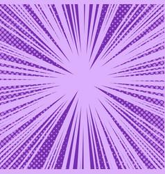 Comic book purple bright explosive background vector