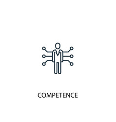 competence concept line icon simple element vector image