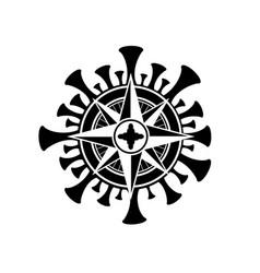 coronavirus windrose symbol vector image