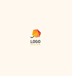 Creative geometric logo abstract umbrella vector