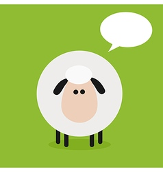 Cute sheep background with a text space vector