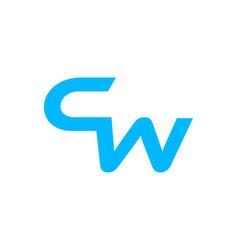 cw letter logo design template element vector image