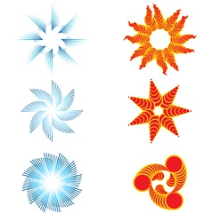 Day and night symbols vector