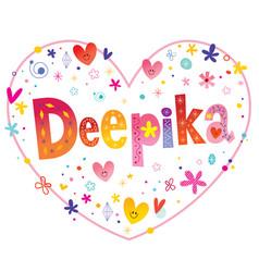 Deepika girls name vector