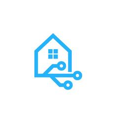 digital house logo icon design vector image