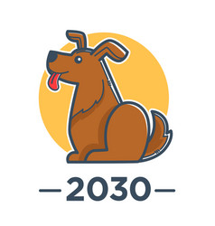 Dog chinese zodiac sign horoscope and astrology vector