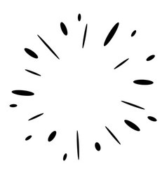 Doodle design element firework hand drawn vector