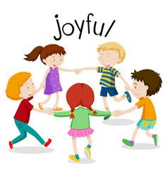 English vocabulary word of joyful vector