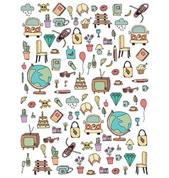 Everyday things handdrawn vector