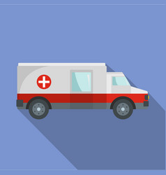 fast ambulance icon flat style vector image