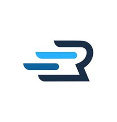 Fast letter r logo icon design vector