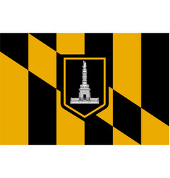 Flag baltimore city in maryland usa vector