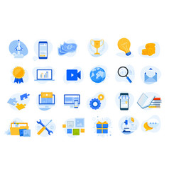 Flat design concept icons collection vector