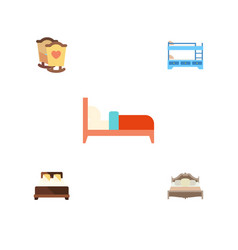 flat mattress set of bedroom bearings bunk bed vector image