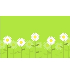 Flower on green background vector