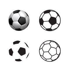 football ball icon flat style 3d style single vector image