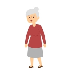 Granny portrait vector