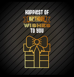 Happy birthday related icons image vector