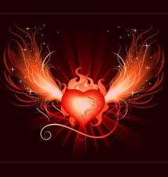 heart phoenix vector image