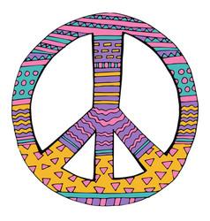 Hippie peace symbol vector