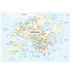 hong kong road map vector image
