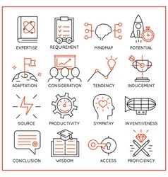 Human resource management icons - 3 vector