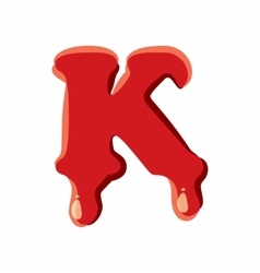 K letter isolated on white background vector image