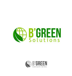 leaf and globe logo with text vector image