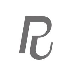 Letter r logo concept icon vector