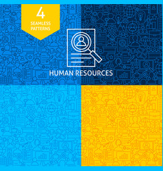 line human resources patterns vector image