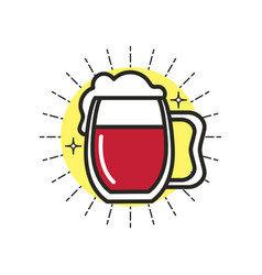 Linear icon beer vector