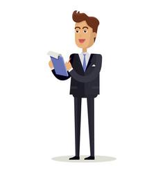 man character in flat design vector image