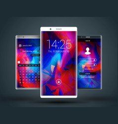 mobile interface wallpaper design abstract vector image