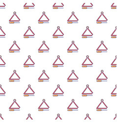 Musical triangle pattern seamless vector