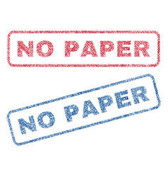 No paper textile stamps vector