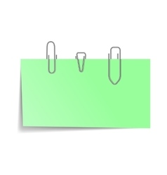 Note with a paper clip icon realistic style vector image