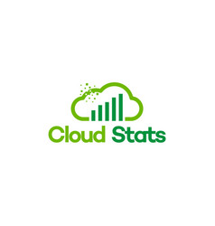 online data logo financial logo template vector image