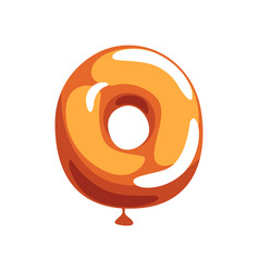 orange letter o from english alphabet in shape of vector image
