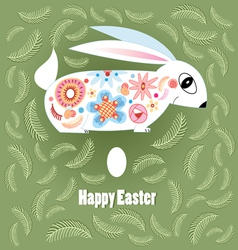 Ornamental Easter bunny vector image