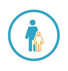 Pediatrics and medical services icon vector