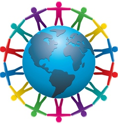people around world vector image