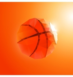 Polygon basketball vector image
