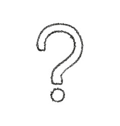 Question mark hand drawn vector