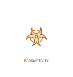 Radioactivity concept 2 colored icon simple line vector