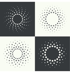 Round banner pixels vector