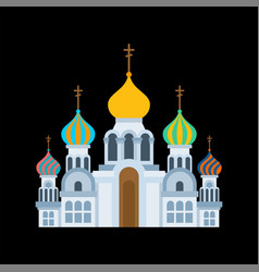 russian christian church isolated traditional vector image